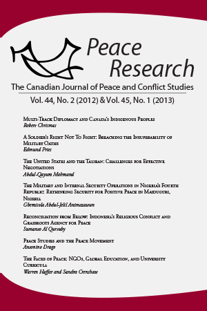 Peace Research 44-2 (2012) & 45-1 (2013)