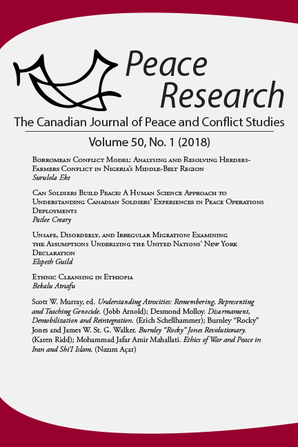 Peace Research 50-1 (2018)